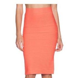 BCBGMAXAZRIA Leger High-Waist Bandage Skirt